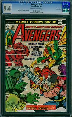 Avengers # 130  One of the Greatest Battle Issues Ever !  CGC 9.4 scarce book !