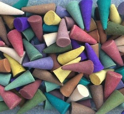 100 x INCENSE CONES - MIX of 14 Fragrances - Large Loose Indian Exotic Colourful