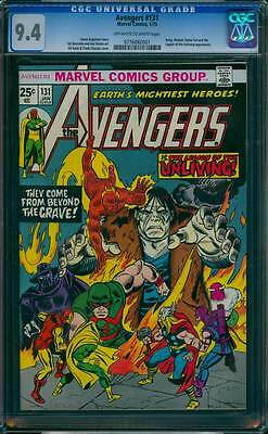 Avengers # 131  The Legion of the Unliving !  CGC 9.4 scarce book !