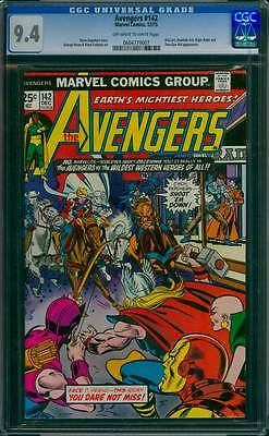 Avengers # 142  The Wildest Western Heroes of All !  CGC 9.4 scarce book !