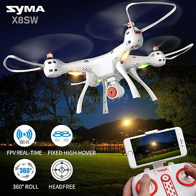 Syma X8SW RC Drone Quadcopter HD Camera 720P FPV Altitude Hold 4CH 6-Axis Toys