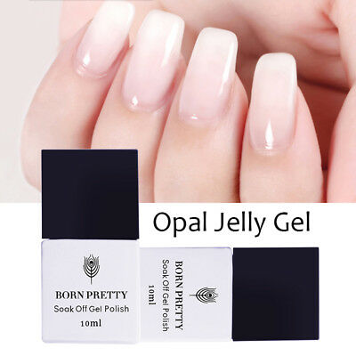 10ml White Opal Jelly Gel Nail Soak Off Gel Polish  UV Gel BORN PRETTY