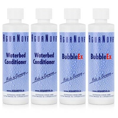 2x AguaNova Wasserbett Conditioner 250 ml , 2x Bubble Ex 400g