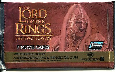 Lord Of The Rings The Two Towers Factory Sealed Hobby Packet / Pack