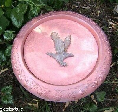 Eagle birdbath plastic mold concrete plaster mould