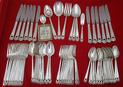 80 Pcs 1847 Rogers Bros ETERNALLY YOURS Silverplate Flatware Set Service for 12