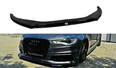 Audi A6 4G C7 S-LINE version2 Cup Spoilerlippe Front Diffusor Schwarz Glanz +ABE