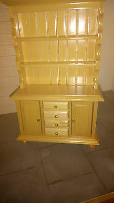 Dolls House Furniture, Kitchen Pine Welsh Dresser