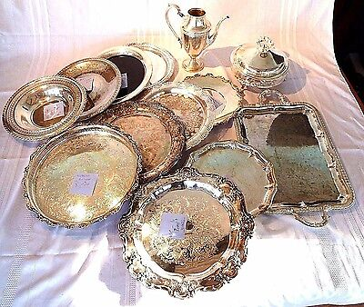 LOT OF 13 ROGERS SHEFFIELD WEBSTER-WILCOX CASTLE TOWLE MAY LEONARD Silver Plate