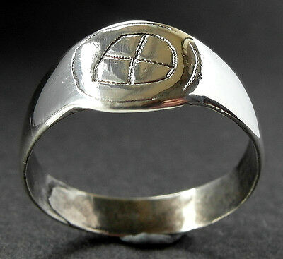 RARE - CELTIC SILVER TARANIS RING - wearable- circa 3rd to 1st cent AD