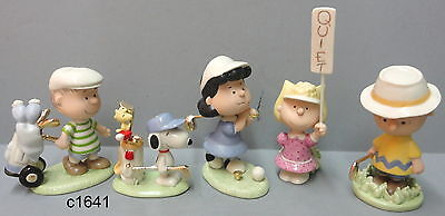 Lenox Peanuts Golf Team (Set of 5) Figurine Charlie Brown Snoopy NEW in box