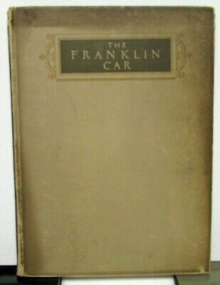 1918 Franklin Car Hardbound Motor Car Catalog Sales Brochure Owners Manual