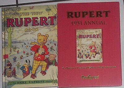 The  Rupert   Book , Annual,& Slipcase, Certificate   1951, Hardback , Scarce