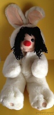 """1995 Molly Doll BUNNY COSTUME The Big Comfy Couch 15"""" Plush Stuffed Toy Easter"""