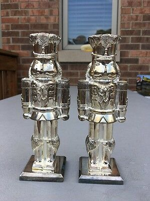 Pair of Nutcracker Candleholder by International Silver Co.