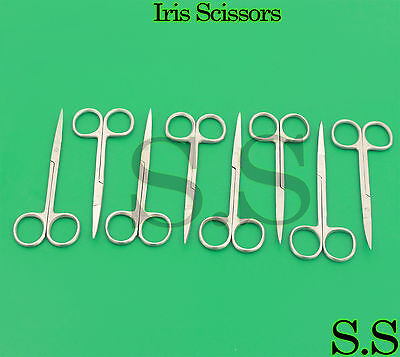 "NEW 16 Iris Scissors 4.5"" Curved Surgical Dental Instruments"