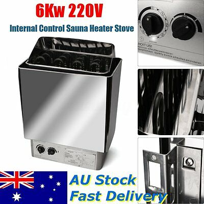 6KW Sauna Heater Stove Internal Control Set Stainless Steel for SPA Bath Shower