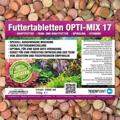 1000 ml PREMIUM TOP Futtertabletten OPTI-MIX 17 Aquarium Tablettenfutter