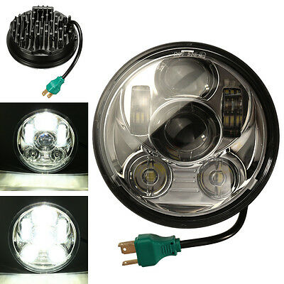 """5-3/4"""" Motorcycle LED Projector Daymaker Headlight Chrome For Harley Davidson AU"""