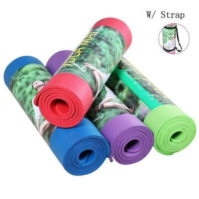 8MM Exercise Yoga Pad Mat Non Slip Durable Pilates Physio Fitness Gym Cushion