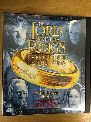 Lord Of The Rings Return Of The King Update UK Exclusive Official Topps Binder