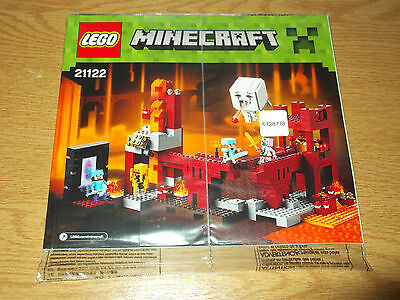 Lego Minecraft 21122 The Nether Fortress INSTRUCTION BOOK ONLY