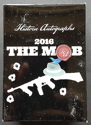 Historic Autógrafos The Mob Conjunto Premium 2016 Trading Cards Mafia Sellado
