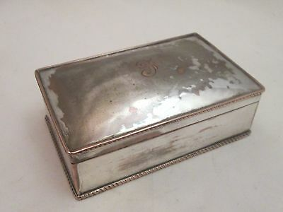 A Good 19th Century Silver Plated Box - initialled 'F'