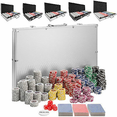 Pokerkoffer Pokerset mit Chips Laser Pokerchips Poker Set Alu Koffer Jetons