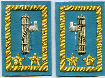 Italy Rome Collar Tabs Mussolini Fascist Army Officer General Battle Uniform War