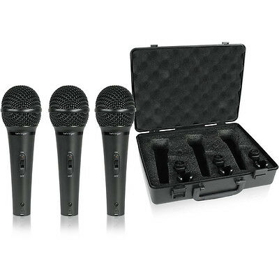 Behringer XM1800S Dynamic Cardioid Vocal Microphone 3PK