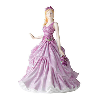 Royal Doulton FEBRUARY VIOLET Flower of The Month HN 5501 Figure NEW in box