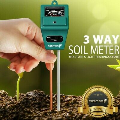 3 In 1 Soil Tester Meter for Garden Lawn Plant Pot MOISTURE LIGHT PH Sensor Tool