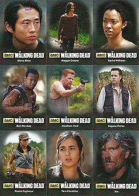 Walking Dead Season 4 Part 2 ~ MINI-MASTER SET (Base + 3 Insert Sets)