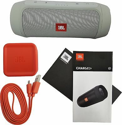 JBL Charge 2+ Plus Splashproof Portable Bluetooth Stereo Speaker Harman Gray