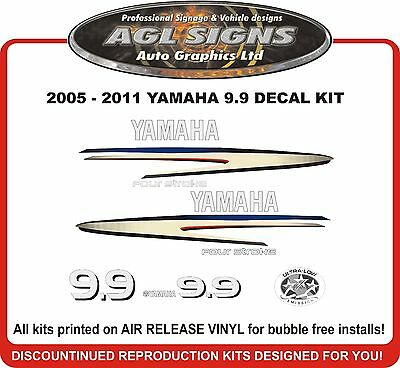 2005 - 2012 YAMAHA 9.9 HP Four Stroke Outboard Decal Kit reproductions 15 20 hp