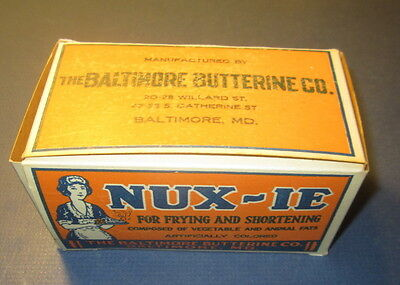 Old Vintage 1930's - NUX-IE - Margarine/Butter - BOX - Baltimore Butterine Co.