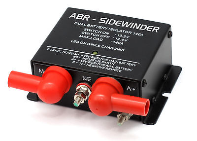 VOLTAGE SENSITIVE RELAY 12V VSR ISOLATOR 140A DUAL BATTERY ABR SIDEWINDER DBi