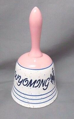 "WSI Wyoming Souvenir Bell with Rodeo Cowboy, 5 1/2"" Tall"