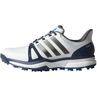 Adidas Adipower Boost 2 Mens Spiked Golf Shoes - White / Blue / Shock Blue