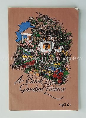 1936 antique FLOWER VEGETABLE GARDEN CATALOG carnation rose poppy turnip spinach
