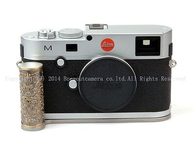 New Brass Curly Grass-Pattern Steel Hand Grip Slver for Leica M240 M-P