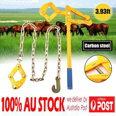 1000KG Fencing Strainer Plain Wire Electric Fence Energiser Chain Repair Tool AU