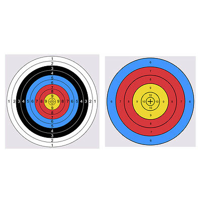 20/50 Pcs Archery Target Paper Arrow Bow Shooting Hunting Training Paper Target