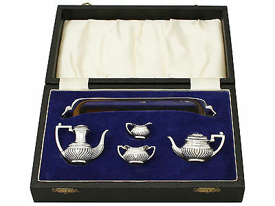 Sterling Silver Miniature Queen Anne Style Tea & Coffee Service with Tray 1971