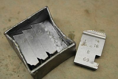 "Alfred Herbert 1/2"" x 16 Tpi BSF Coventry Die Chasers For 3/4"" Head CD368"