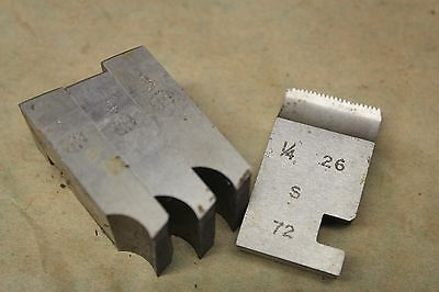 "Alfred Herbert 1/4"" x 26 Tpi BSF Coventry Die Chasers For 1"" Head CD373"