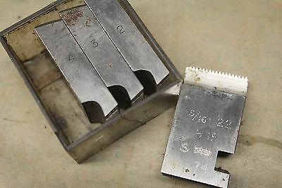 "Alfred Herbert 3/8"" x 20 Tpi BSF Coventry Die Chasers For 1"" Head CD375"