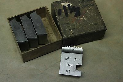 "Alfred Herbert 1 1/8"" x 9 Tpi BSF Coventry Die Chasers For 1 1/4"" Head CD382"