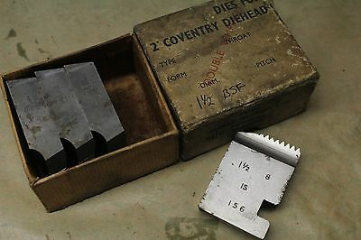 """Alfred Herbert 1 1/2"""" x 8 Tpi BSF Covenrtry Die Chasers For 2"""" Head CD389"""
